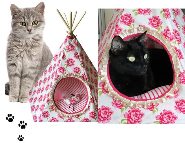 tipis originaux et esth tiques pour les chats. Black Bedroom Furniture Sets. Home Design Ideas