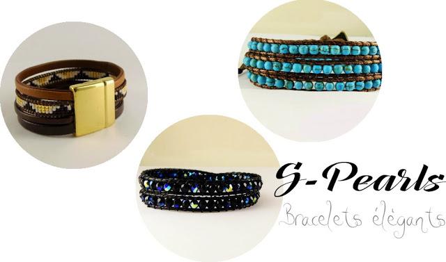 jolis bracelets simili cuir