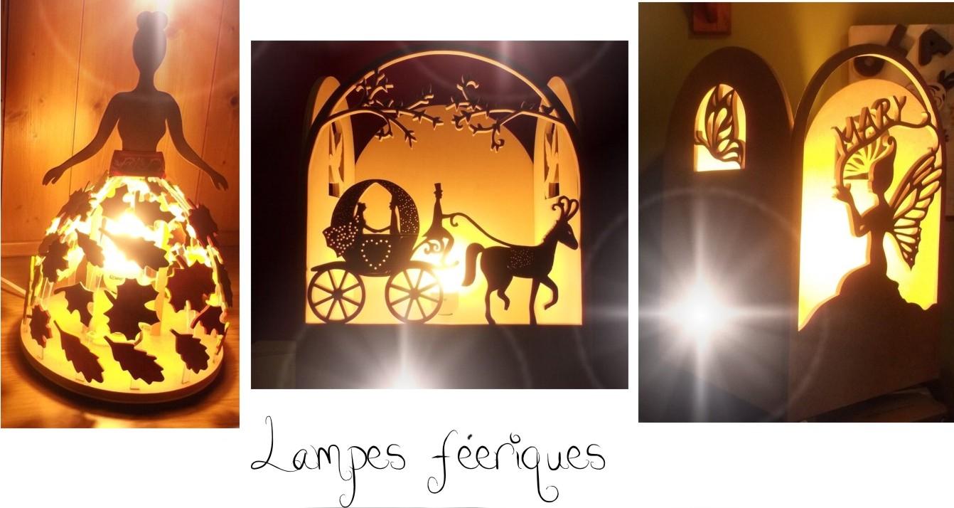 Lampes en bois féeriques pour une atmosphère magique