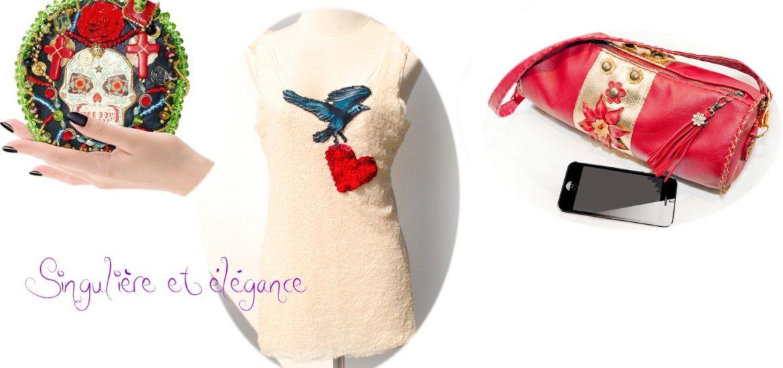 créateur mode pièce unique sac et robe