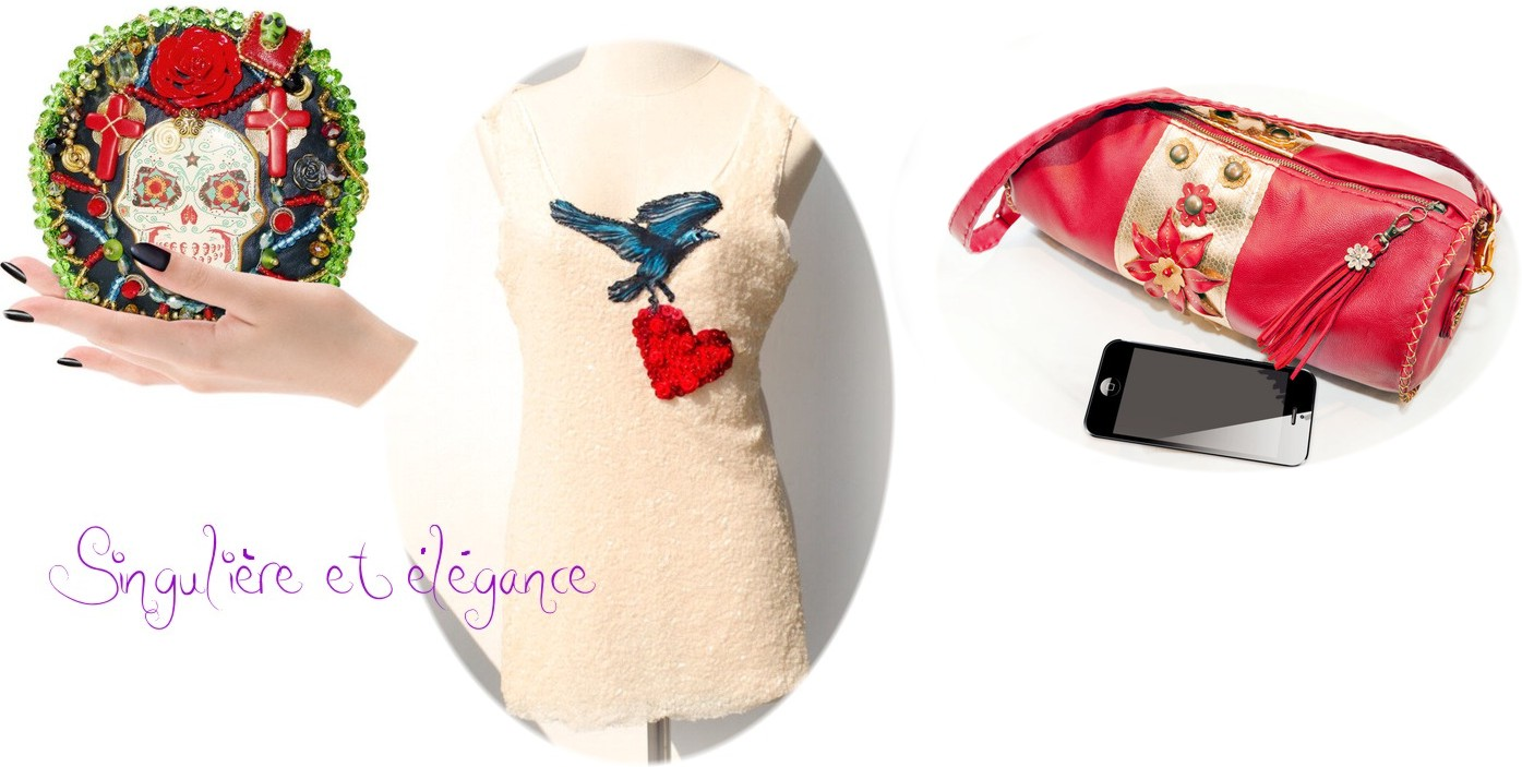 Accessoires élégants de mode et pièces uniques