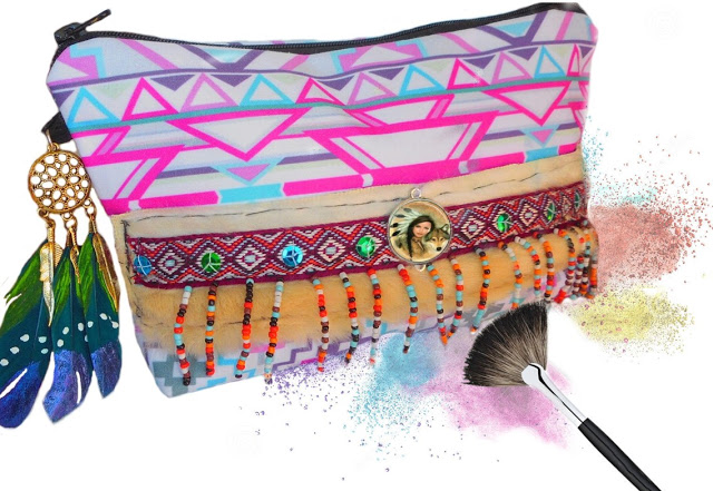 trousse maquillage ethnique indienne