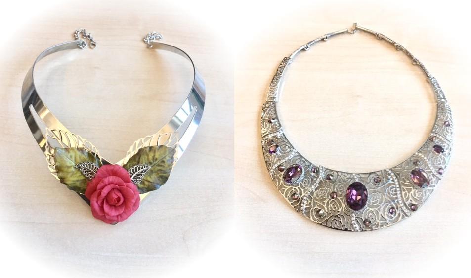 collier élégant et féminin plastron