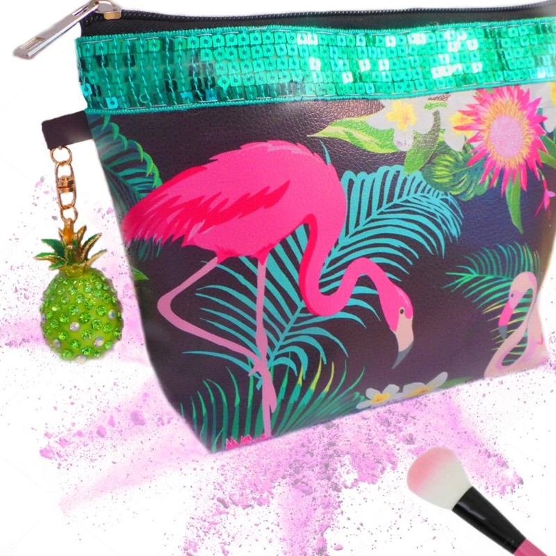 trousse maquillage simili cuir urban jungle