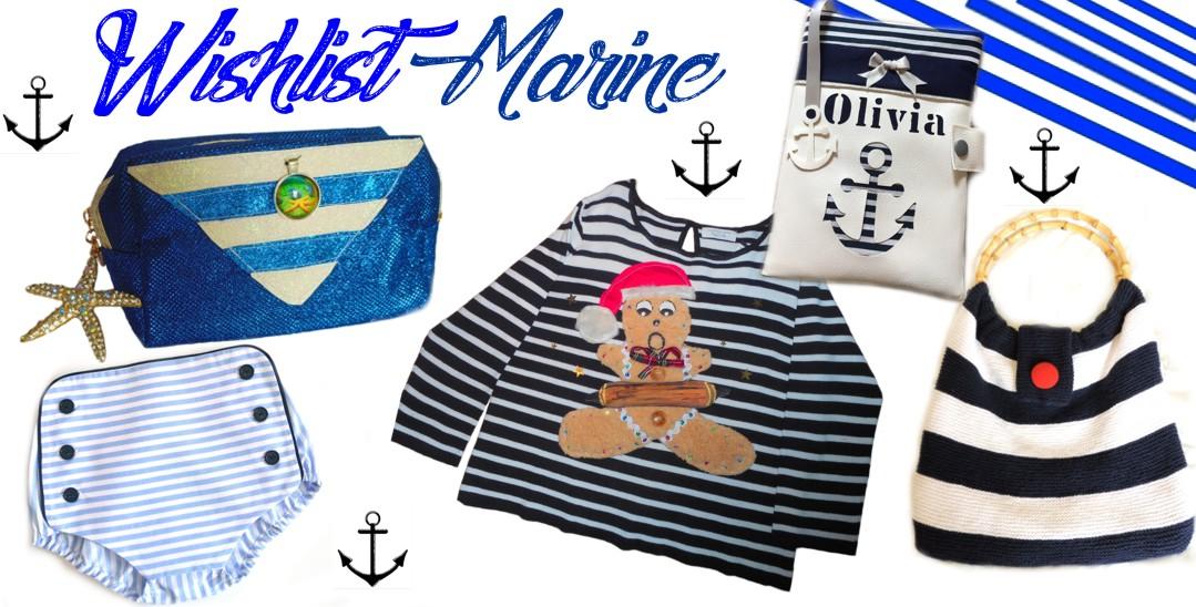 5 cadeaux élégants originaux femme et enfant sur le thème marinière, marin
