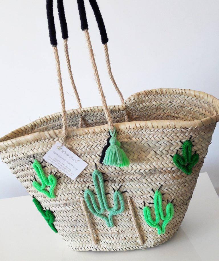 joli sac de plage avec motif cactus