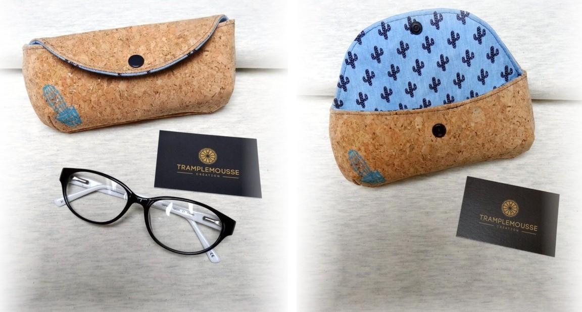 joli étui à lunette original en liège