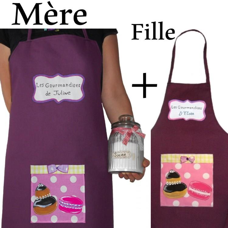 tabliers maman fille personnalisé gourmandises