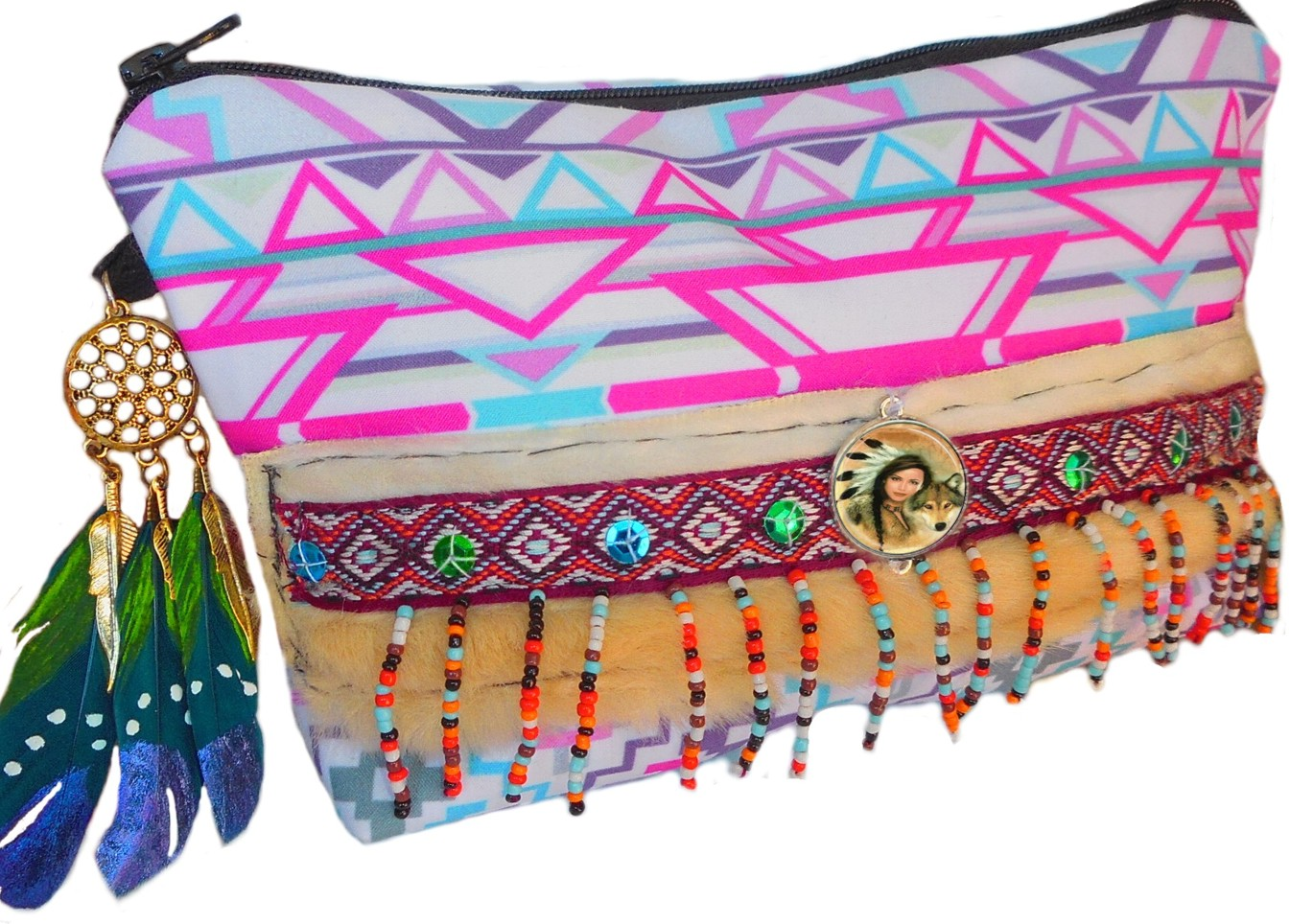 trousse maquillage style ethnique indien