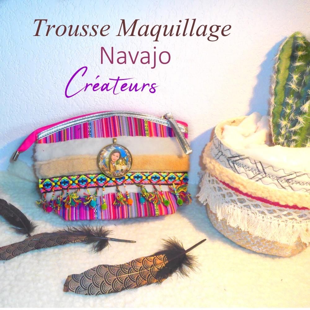 trousse maquillage originale ethnique amérindienne