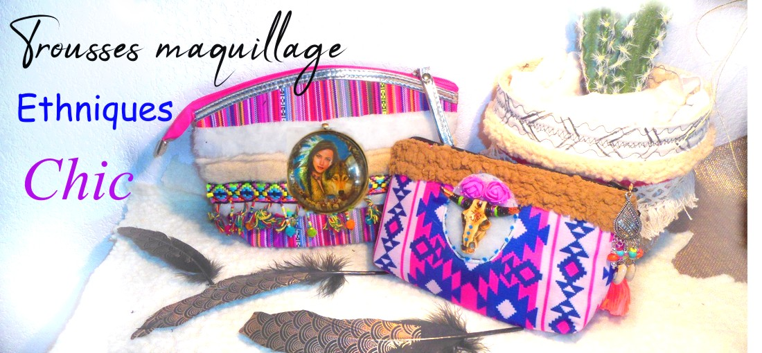 trousse maquillage originale de style ethnique