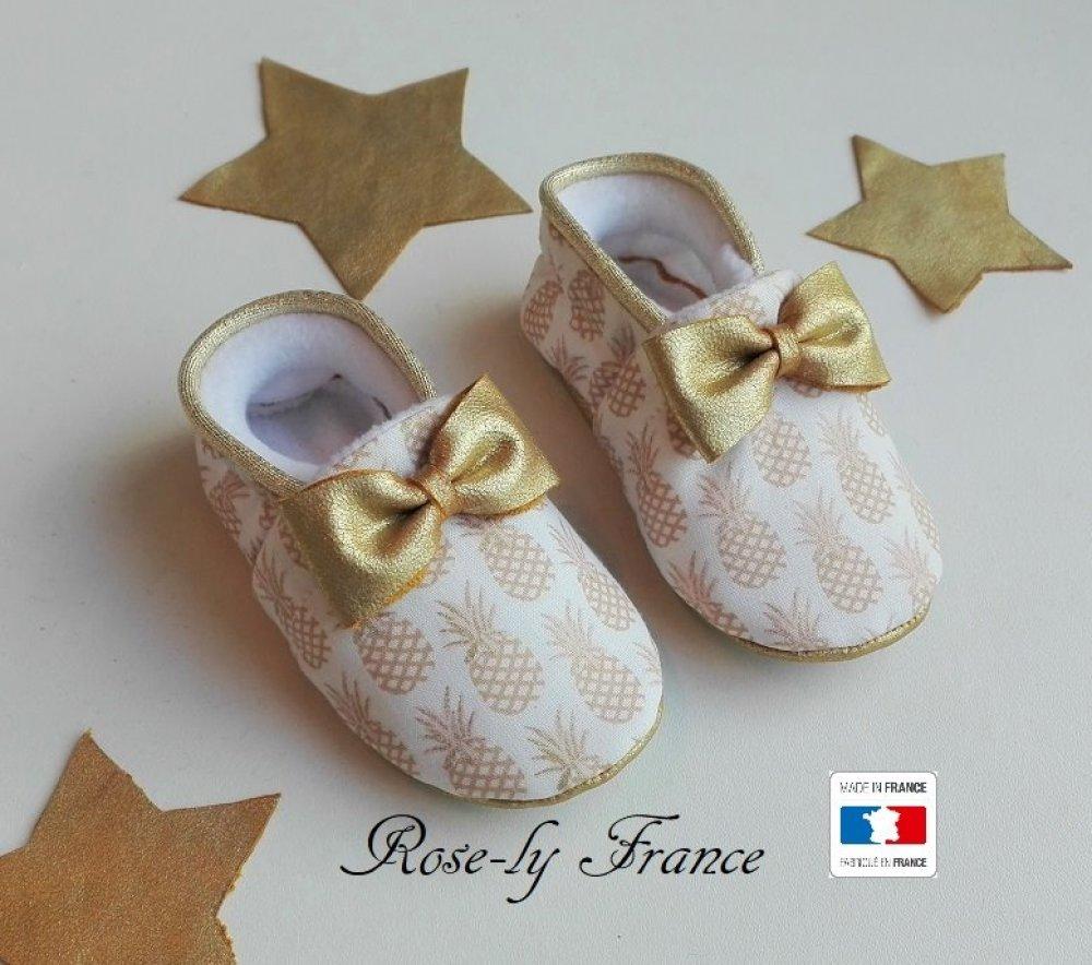 chaussons faits main bébé