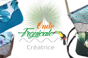 Accessoires sac à main style tropical, créatrice Onde tropicale