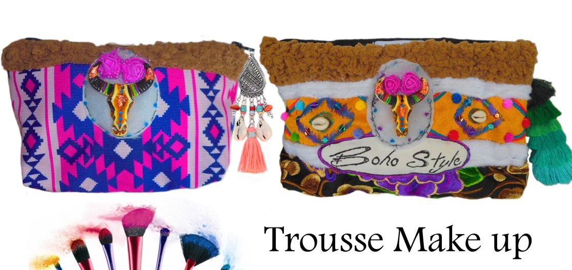 trousse maquillage ethnique boho