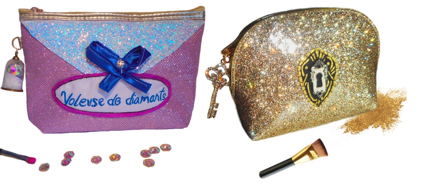 trousse maquillage chics pailletés brillantes