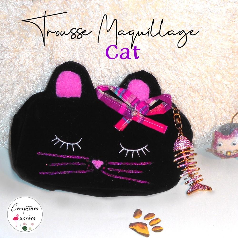 Jolie trousse maquillage chat pour fillette originale