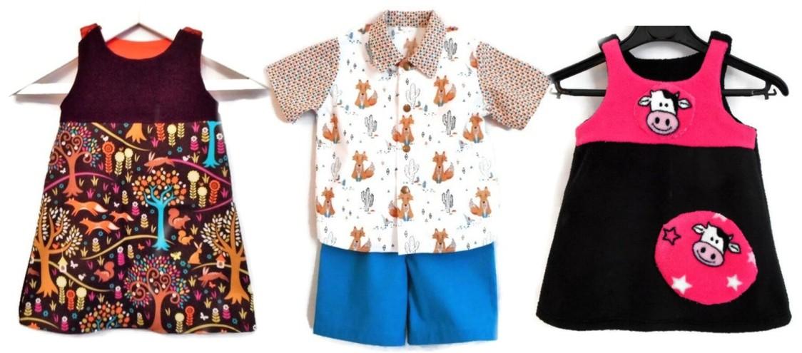 vêtements bébé enfant imprimés animaux