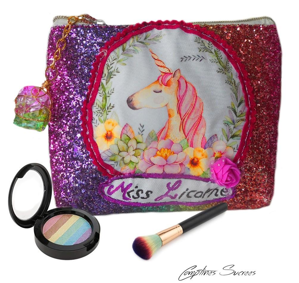 jolie trousse maquillage licorne