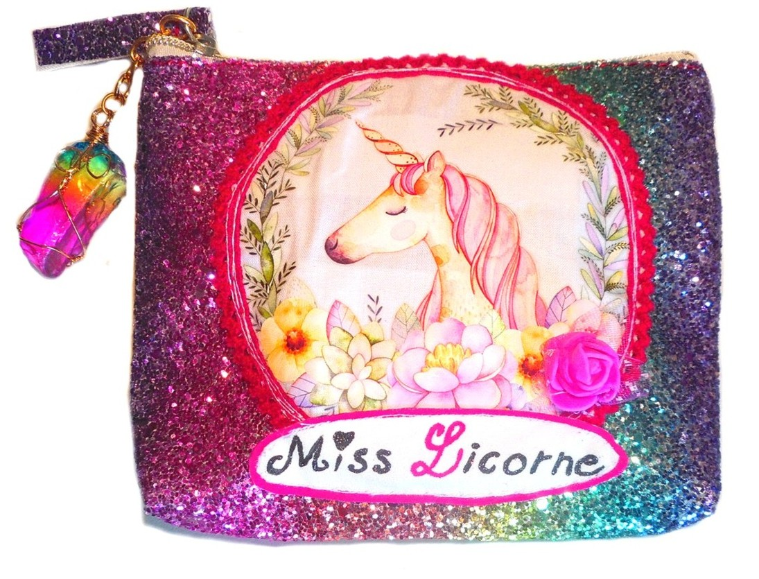cadeau à paillette filette licorne
