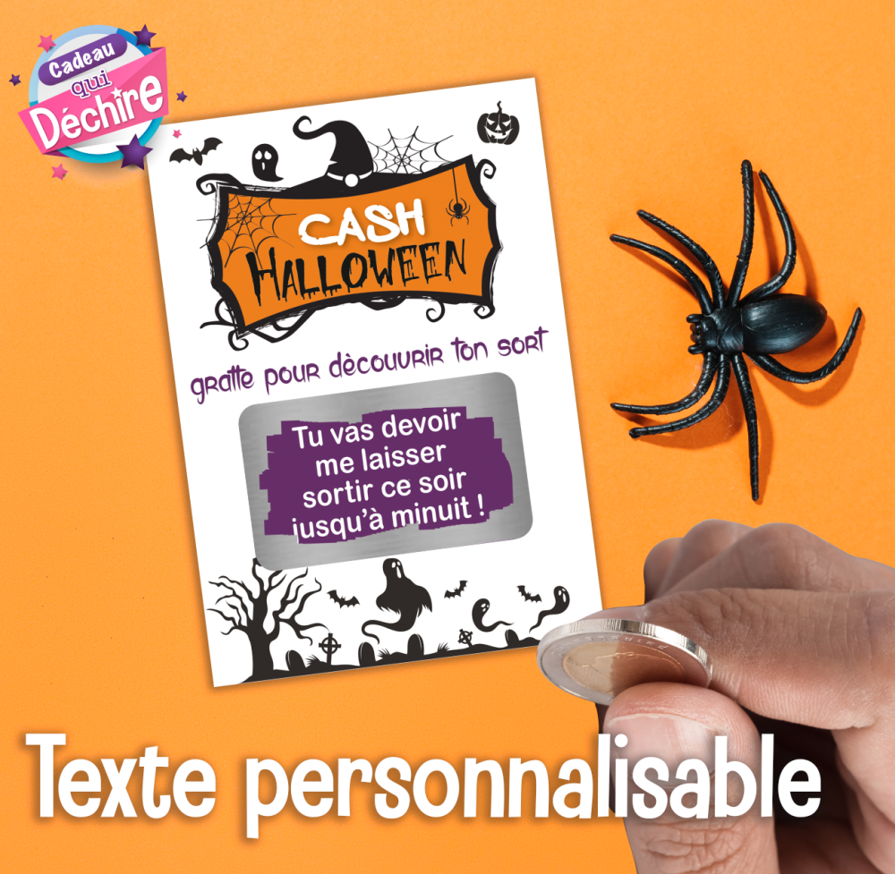 carte a gratter invitation halloween