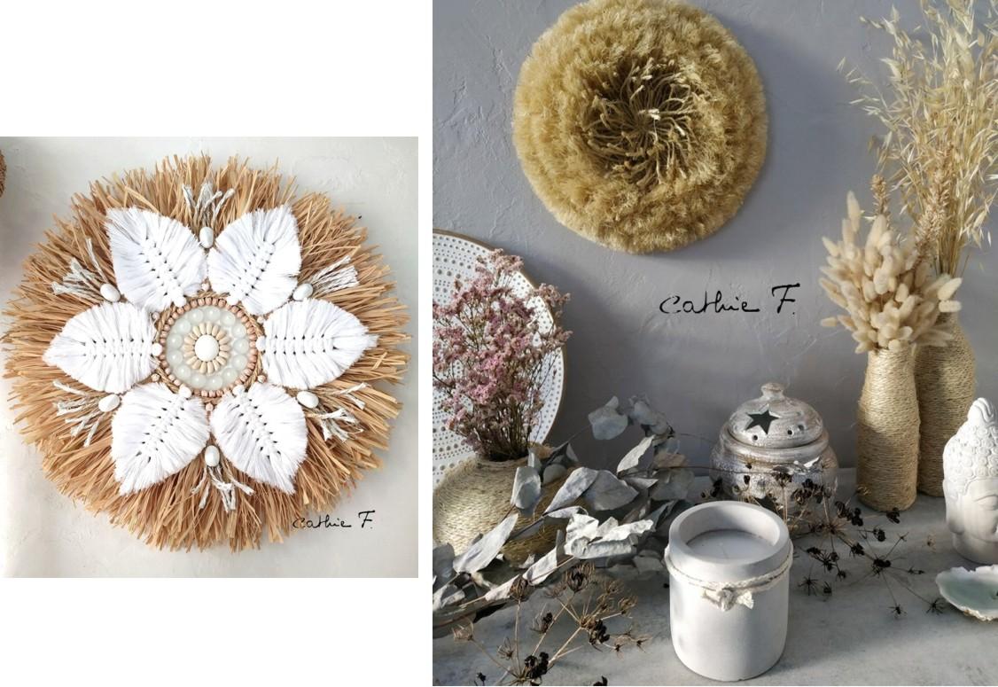 juju hat en fibres et raphia couleurs naturelles