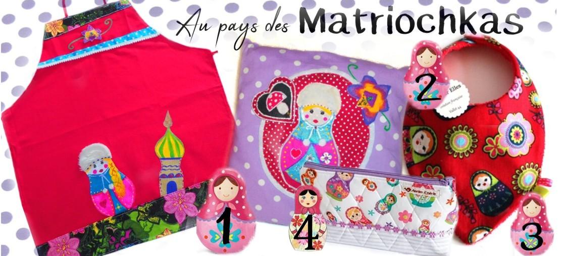 Idée cadeau coloré en rouge motif matriochka