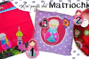 Créations colorées à la Russe motif Matriochkas pour femme et enfant