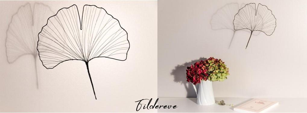 déco minimaliste japonisante et poétique forme de feuille